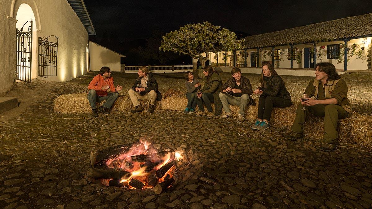 Bonfire in Zuleta