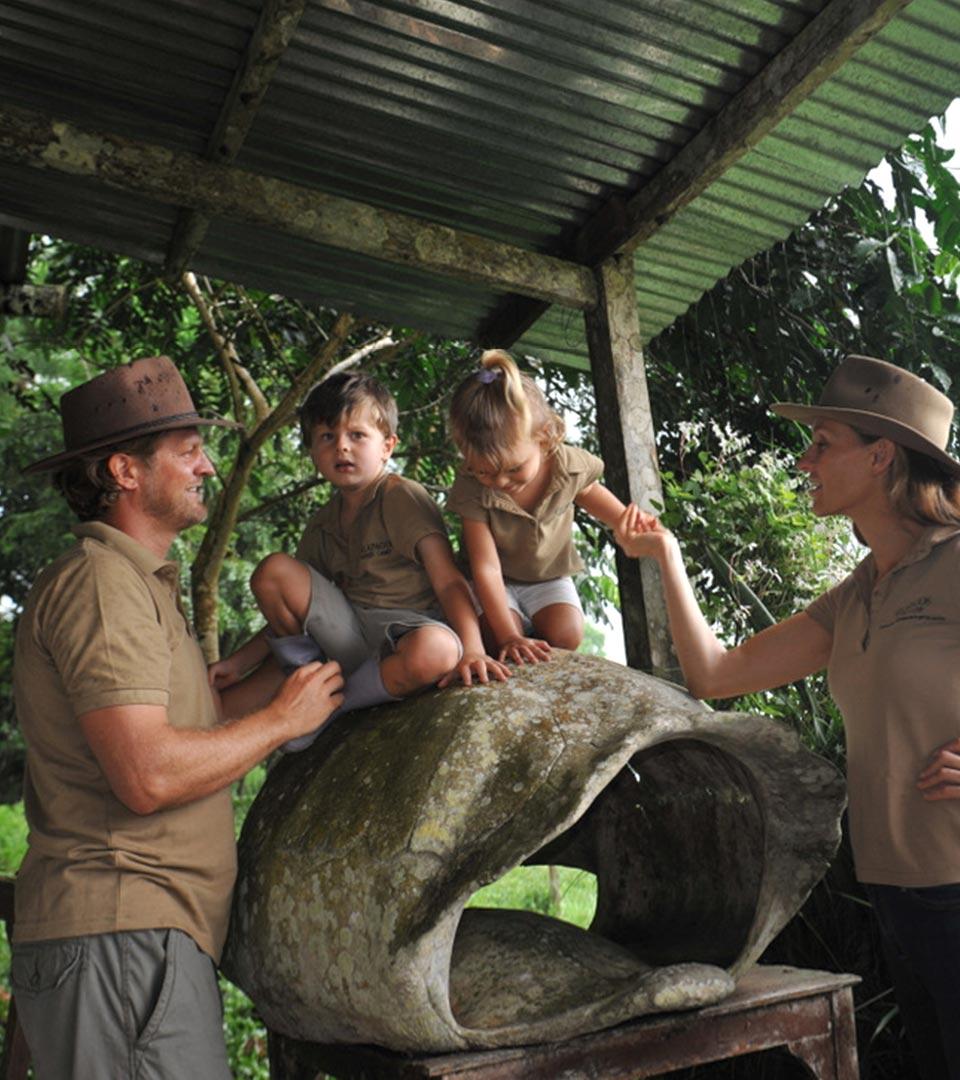 Galapagos Safari Camp founders - family