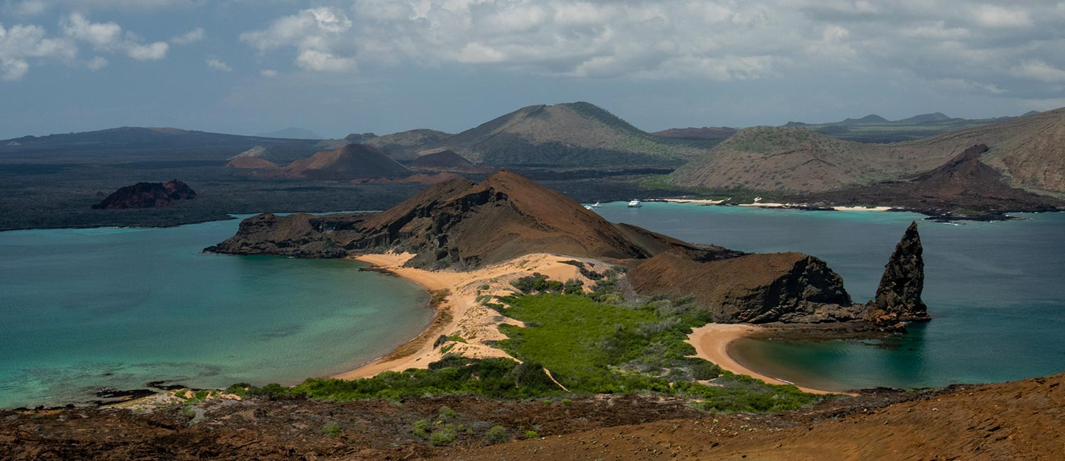 Galapagos hiking tours. Walking on Bartolome Island